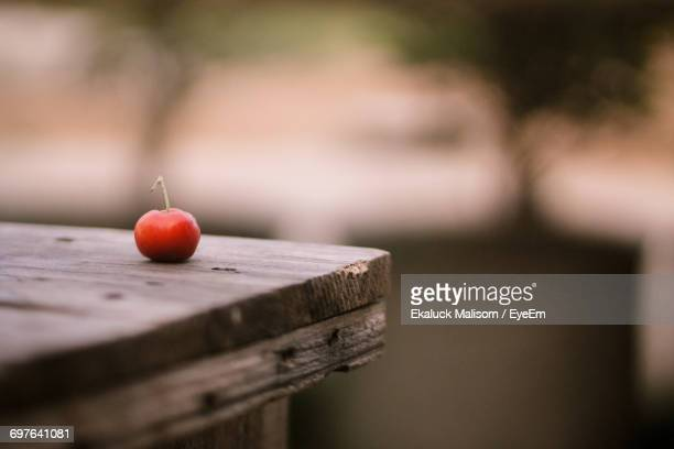 Close Up Of Cherry On Table