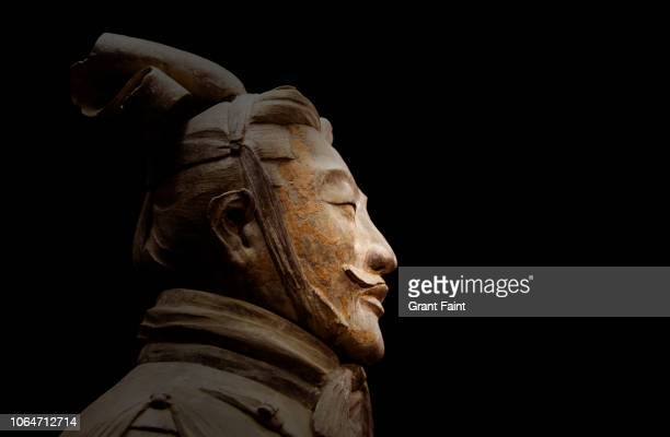 close up of chinese statue. - terracotta army stock pictures, royalty-free photos & images