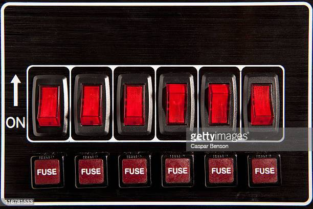 close up of circuit breakers