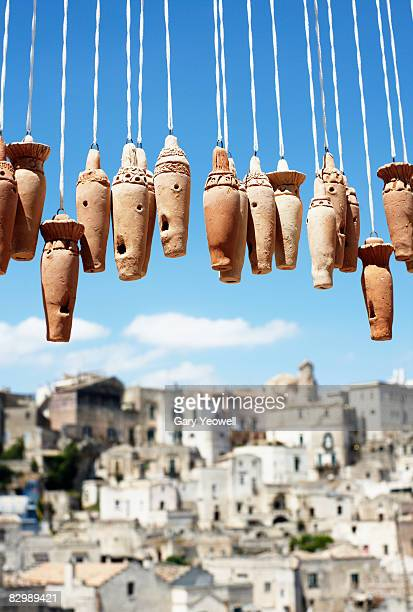 close up of clay whistles in matera. - basilicata region stock pictures, royalty-free photos & images