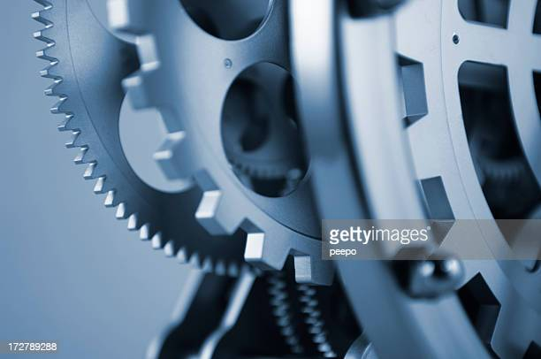 Close Up of Clockwork Mechanism