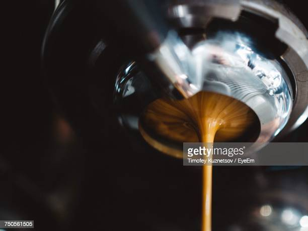 close up of coffee maker - espresso stock photos and pictures