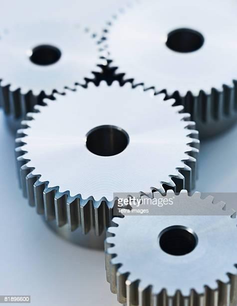 Close up of cog wheels