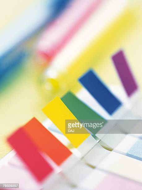 Close up of colorful adhesive notes