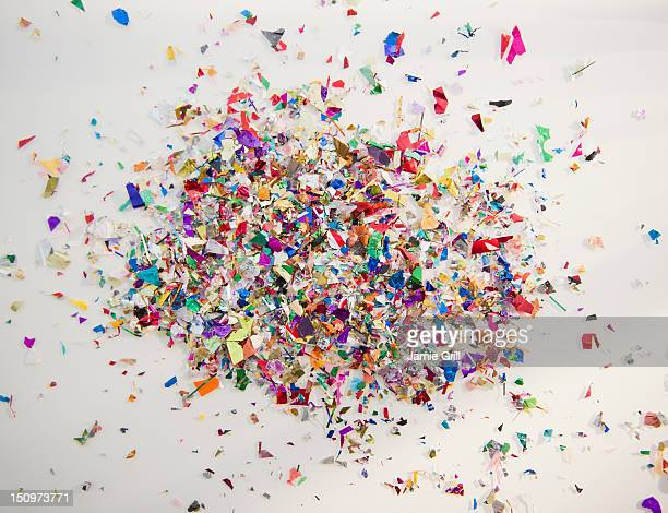 Close up of colorful confetti