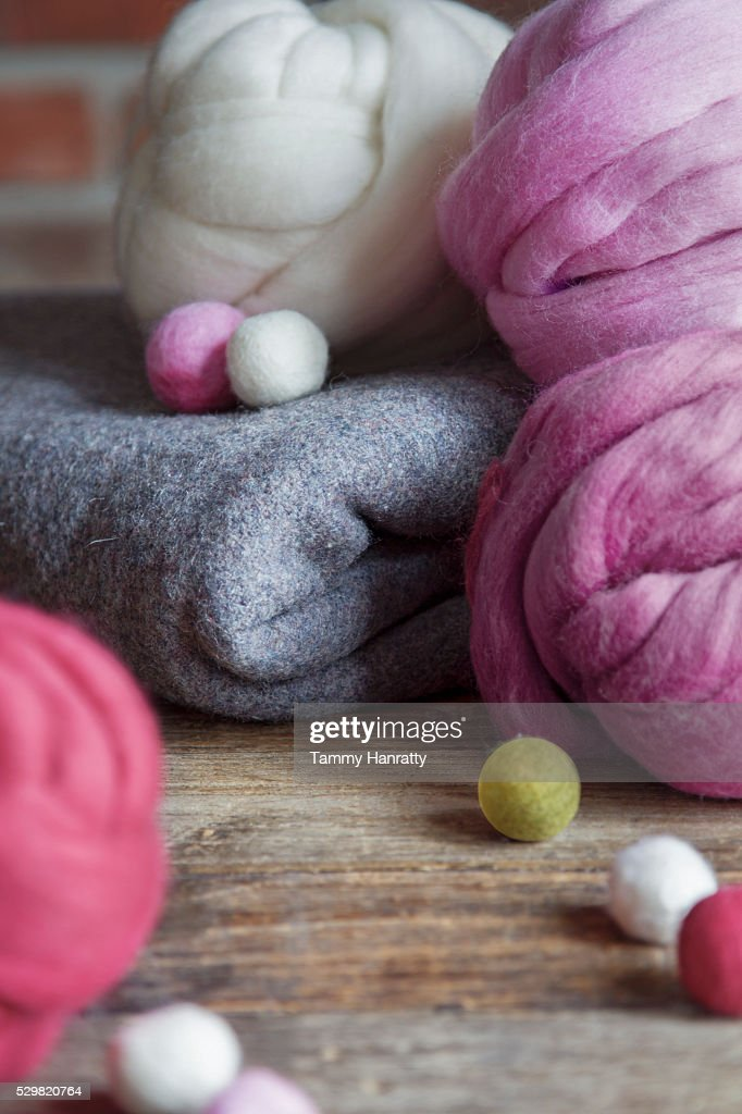 Close up of colorful felt : Foto stock