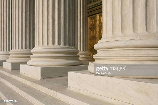 Close up of columns at the supreme court