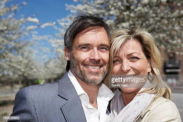 Nahaufnahme von lächelndes Gesicht für Paare