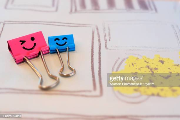 Close Up Of Creative Paper Clips