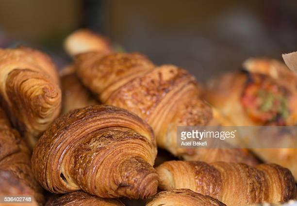 Close up of croissants