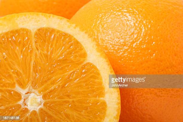close up of cross section of orange - orange stock pictures, royalty-free photos & images
