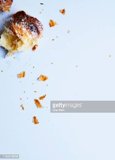 Close up of crumbled pastry