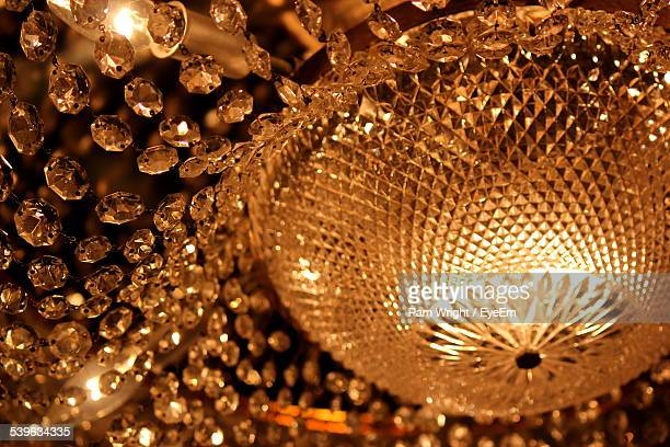 Close Up Of Crystal Chandelier
