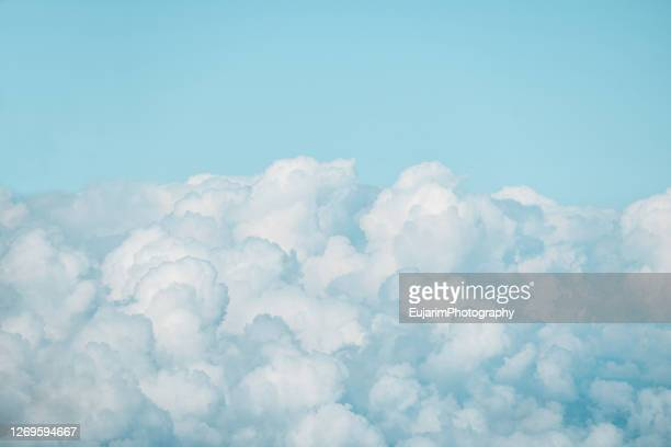 close up of cumulonimbus clouds on the sky - cloudscape stock pictures, royalty-free photos & images