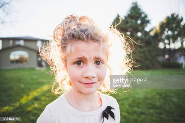 Close up Of Cute Little Girl