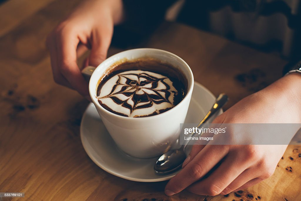 Close up of decorative coffee drink : Foto stock