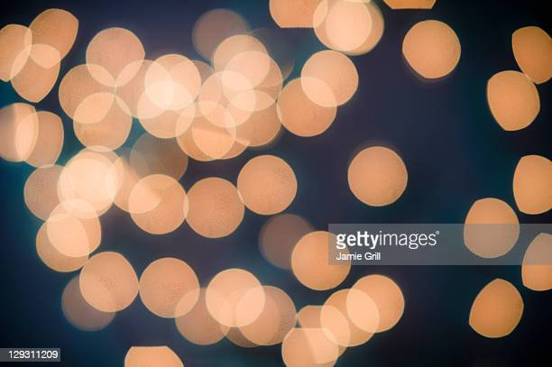 Close up of defocused lights
