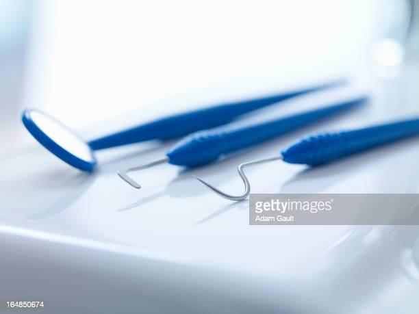 Close up of dental instruments