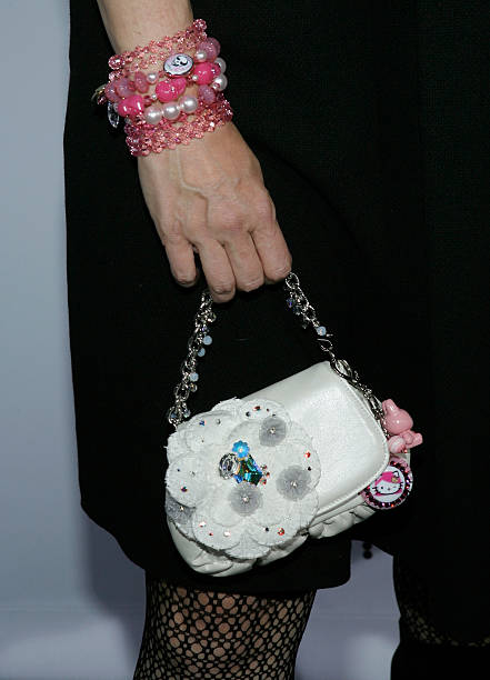 A Close Up Of Designer Tarina Tarantino S Handbag Is Seen As She Arrives At The