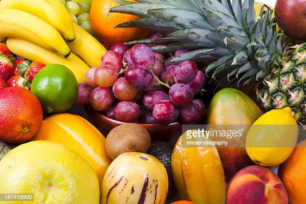 close up of different fruits - tropical fruit stock pictures, royalty-free photos & images