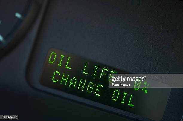 close up of digital oil gauge - oil change stock pictures, royalty-free photos & images