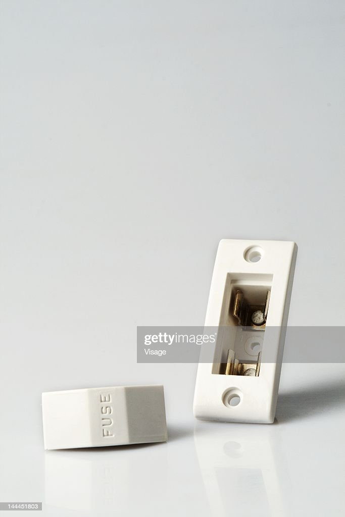 Close up of dis-mantled fuse : Foto de stock