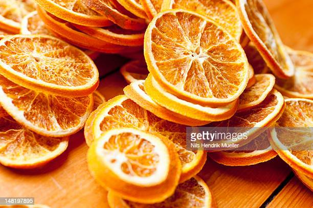 close up of dried orange slices - dried food stock pictures, royalty-free photos & images