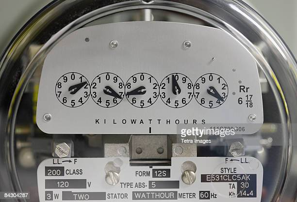 Close up of electrical meter