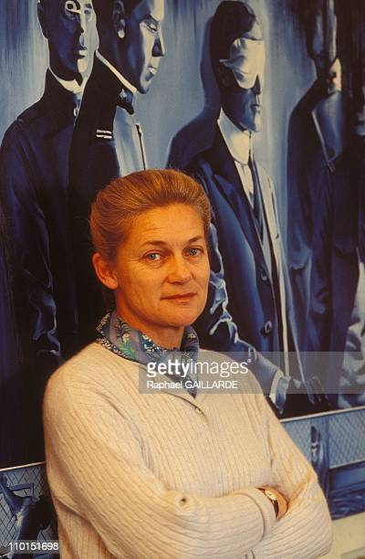 Close up of Elisabeth Badinter in France on December 08 1992