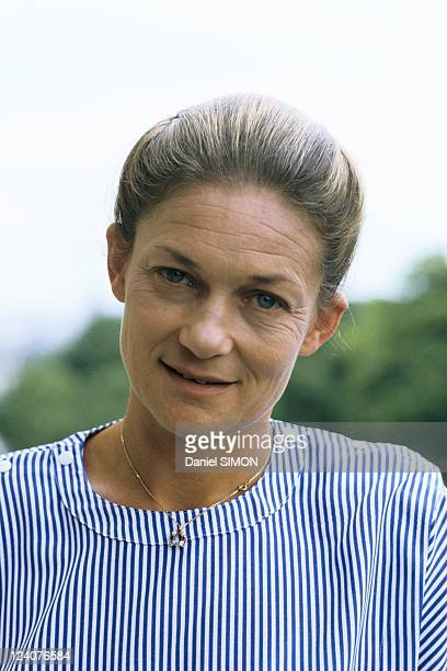 Close up of Elisabeth Badinter on June 24 1986