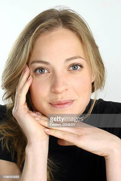 Close up of Elodie Frenck on the set of 'Les Grands du rire' in Paris,France on June 01,2006.