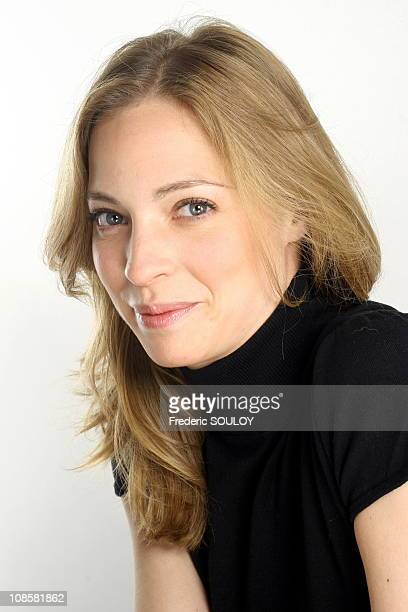 Close up of Elodie Frenck on the set of 'Les Grands du rire' in ParisFrance on June 012006