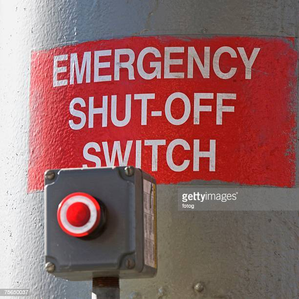 close up of emergency shut-off switch - off stock pictures, royalty-free photos & images