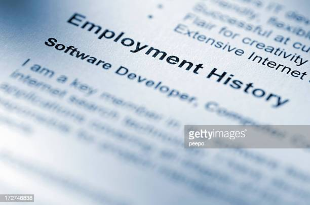 クローズアップの雇用履歴セクションを再開