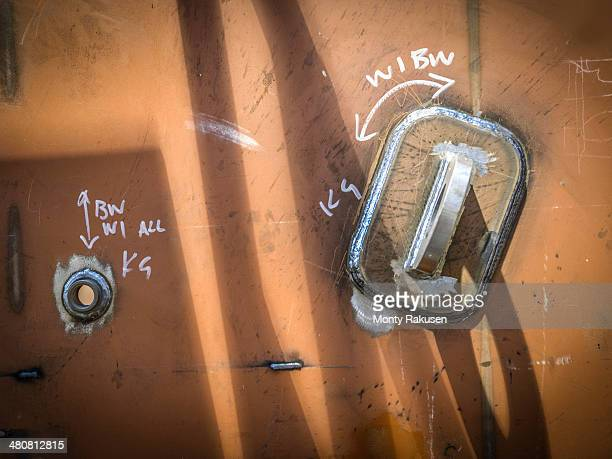 close up of engineering weld detail in factory - monty shadow stock photos and pictures
