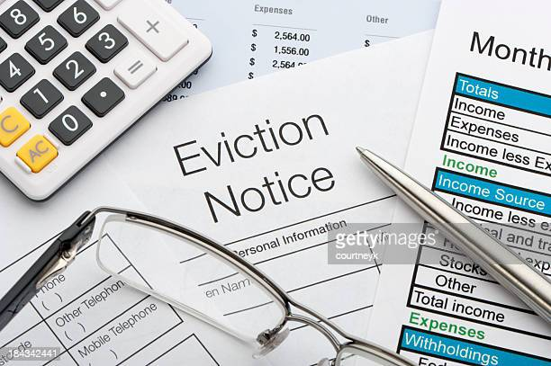 Close up of eviction notice