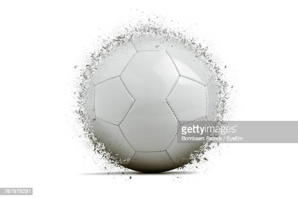 Close Up Of Exploding Ball Over White Background
