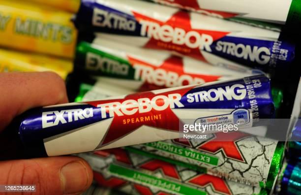 Close up of Extra Trebor Strong.