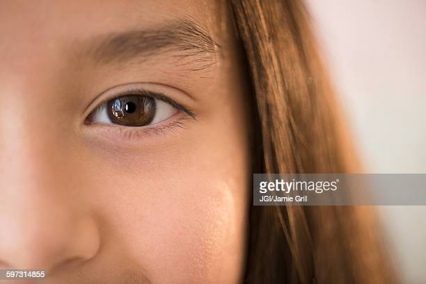 Close up of eye of girl