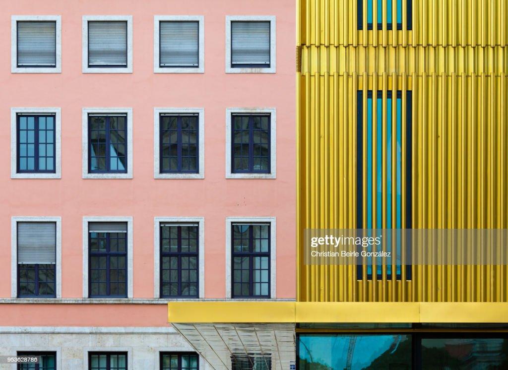 Close Up of Facade of Lenbachhaus Museum : Stock-Foto