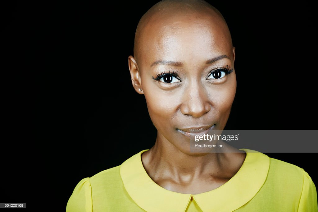 Close up of face of African American woman : Stock Photo