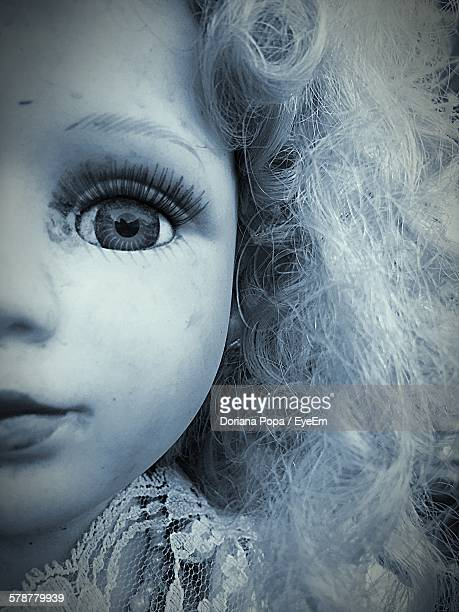 Close Up Of Face Of Doll