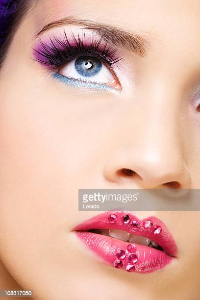 close up of face with beautiful make-up