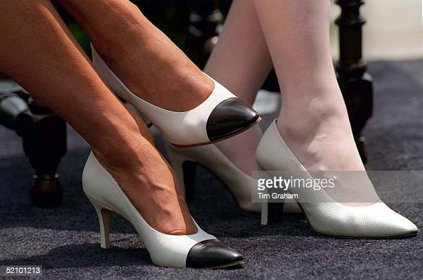 Close Up Of Feet Of Diana, Princess Of Wales In Washington To Make A Speech For The Anti-landmines Campaign And Mrs Elizabeth Dole