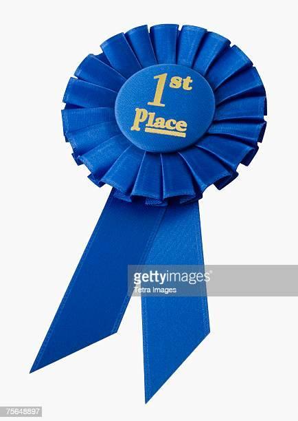 close up of first place ribbon - medalha de ouro - fotografias e filmes do acervo