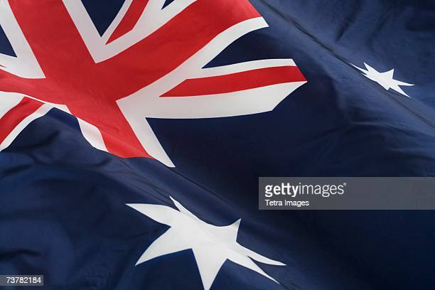 close up of flag of australia - australian flag stock pictures, royalty-free photos & images