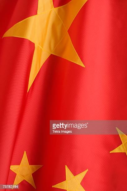 Close up of flag of China
