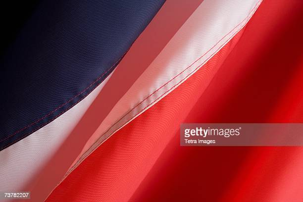 Close up of flag of France