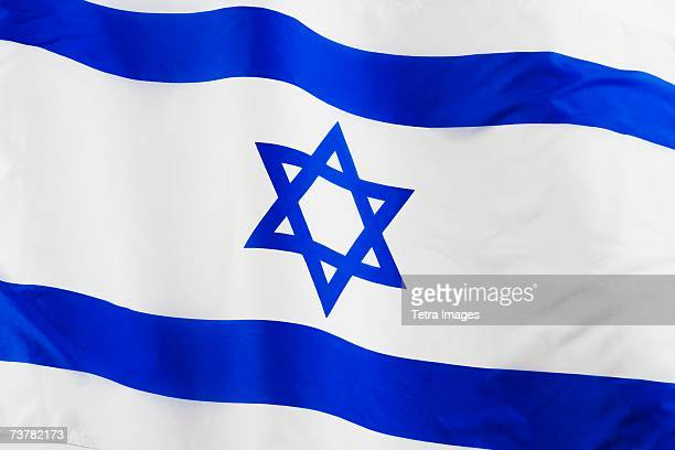 Close up of flag of Israel