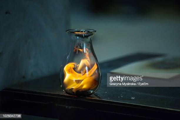 close up of flame in jar - murano stock pictures, royalty-free photos & images